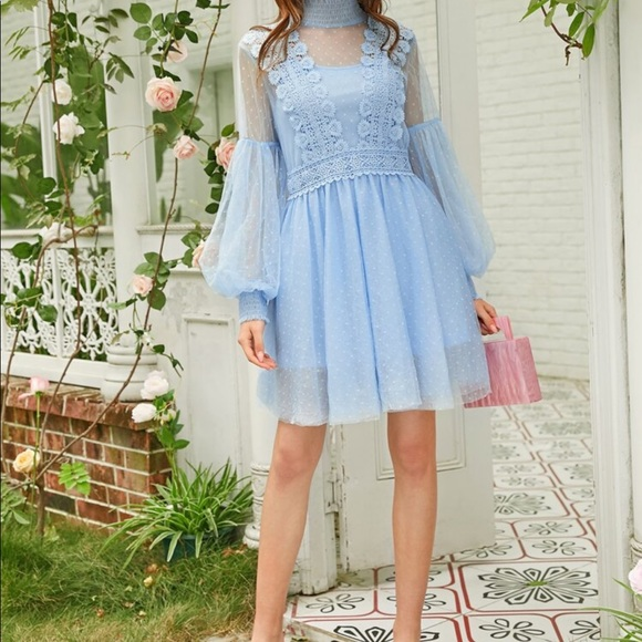 SHEIN Dresses & Skirts - SHEIN beautiful baby blue dress